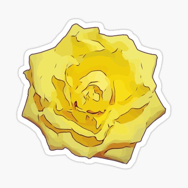 Gelbe Rose Blumen Illustration Sticker