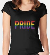 Pride, Gay Women's Fitted Scoop T-Shirt