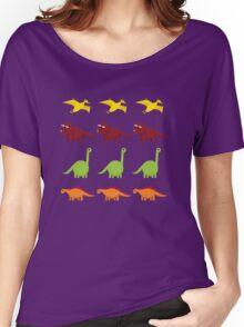 Cute Dinosaurs Women's Relaxed Fit T-Shirt