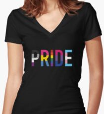 Pride, LGBT+ Women's Fitted V-Neck T-Shirt