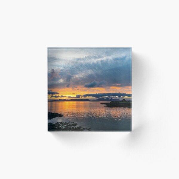 Sunset - Eigg And Rhum Acrylic Block