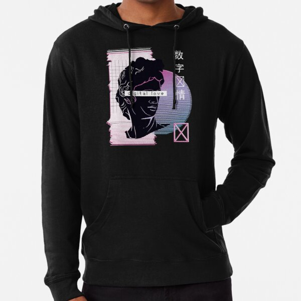 VAPORWAVE DIGITAL LOVE Lightweight Hoodie