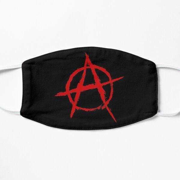 Símbolo de la anarquía en rojo Mascarilla