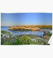 Cornwall: Evening, Overlooking Port Isaac Poster