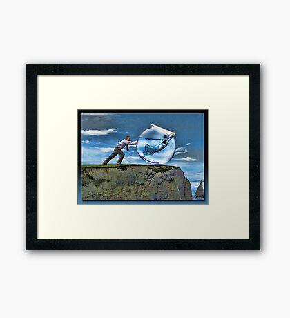 Freeing The Mermaid Framed Print