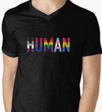 Human, LGBT+ Men's V-Neck T-Shirt