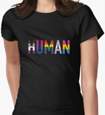 Human, LGBT+ Fitted T-Shirt