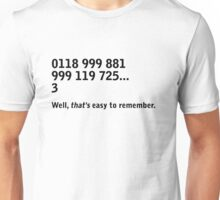 IT Crowd - emergency services Unisex T-Shirt
