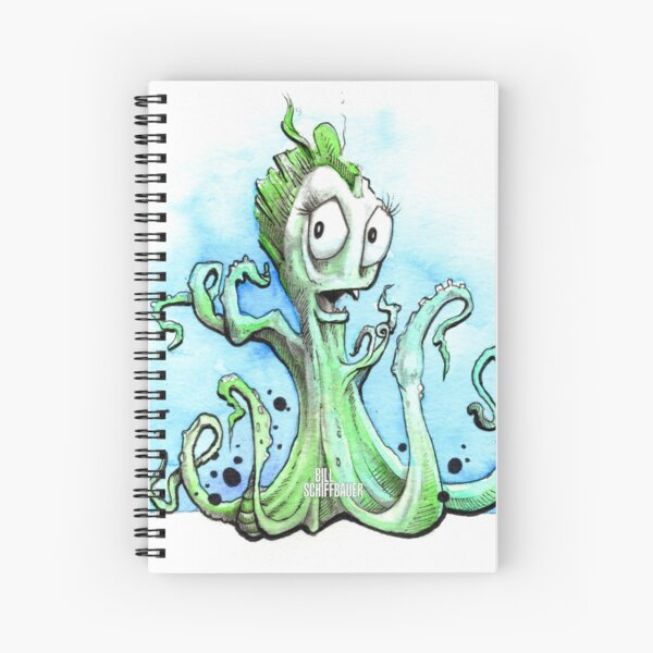 Lady Octopus Spiral Notebook