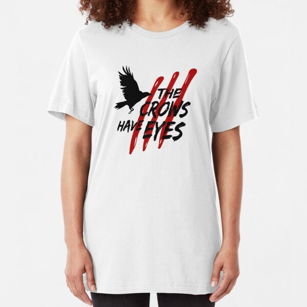 The Crows Have Eyes III (black font) Slim Fit T-Shirt