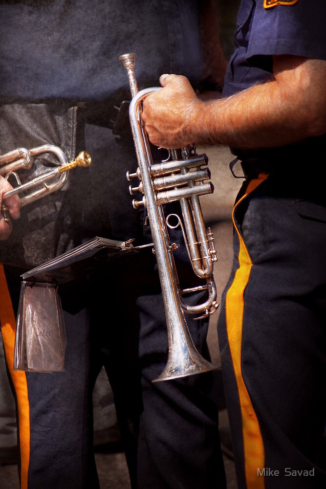 Music - Trumpet - Police marching band  by Michael Savad