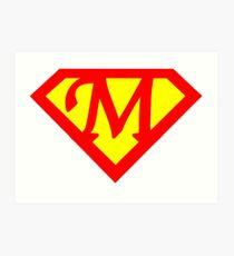 Super M Logo Art Print
