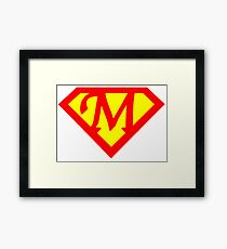 Super M Logo Framed Print