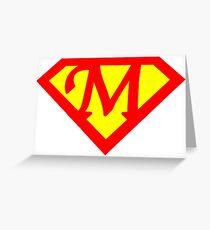 Super M Logo Greeting Card