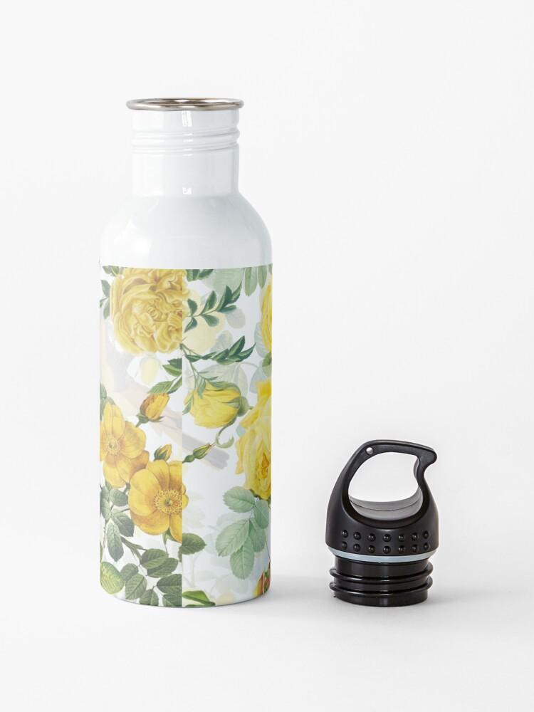 Alternate view of Antique Spring Botanical Flower Rose Garden Water Bottle