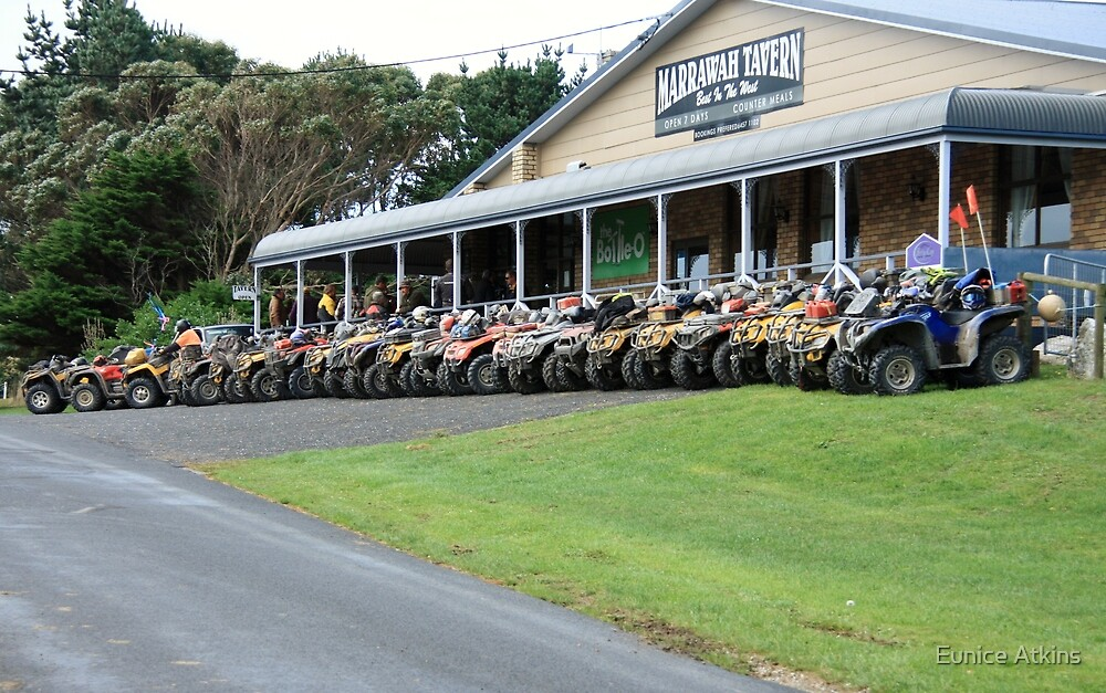 East West Quad Bike Ride, Marrawah Tavern. by Eunice Atkins