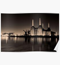 Battersea Power Station Black and gold Poster