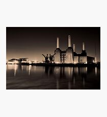 Battersea Power Station Black and gold Photographic Print