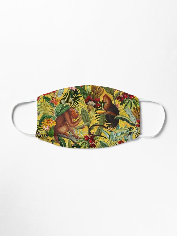Alternate view of Tropical monkey jungle pattern - yellow Mask