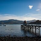 Jetty in Akaroa Harbour by Jenny Setchell