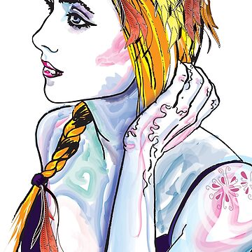 Girl with plait by aligee