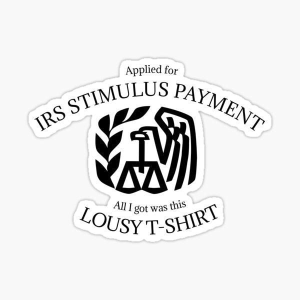 IRS stimulus payment Sticker