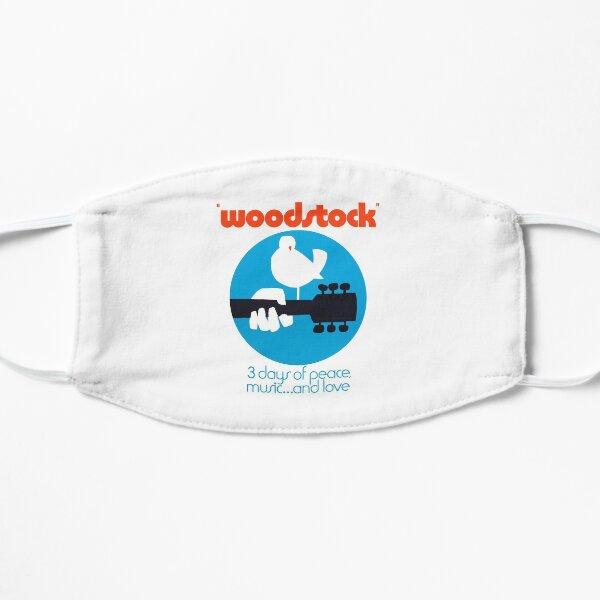 Woodstock 1969 Peace Love Bird Poster White  Flat Mask