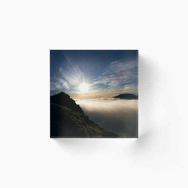 Sun Descending, Sgurr Choinnich Mor Acrylic Block
