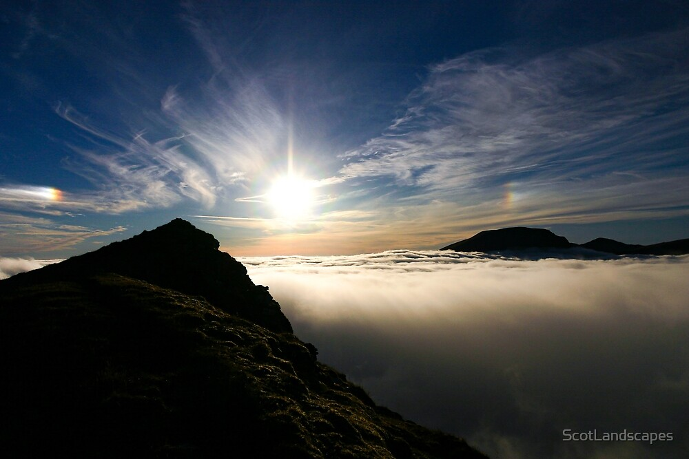 Sun Descending, Sgurr Choinnich Mor by ScotLandscapes