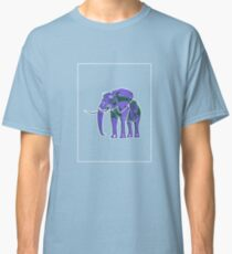 Elephant Mauve Green E Classic T-Shirt