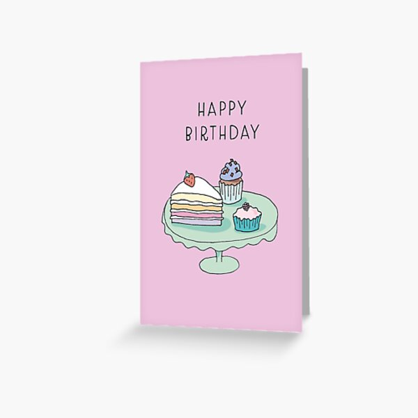 Birthday Cake Card Greeting Card