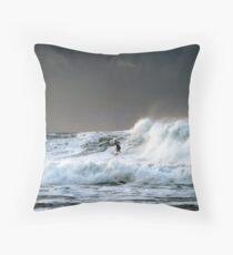 Burnin' the Waves Throw Pillow