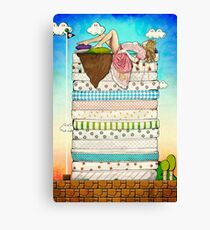 Princess Peach and the Pea Canvas Print