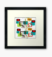Mid Century Atomic Age Inspired Abstract Framed Print