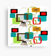 Mid Century Atomic Age Inspired Abstract Canvas Print