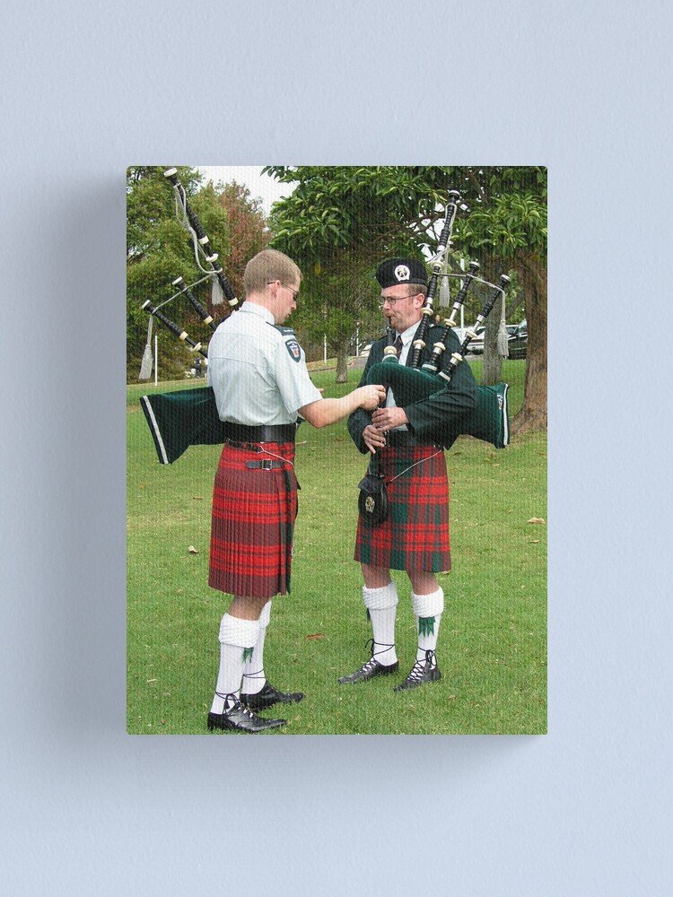 Alternate view of Scottish Bagpipe Band Practice New Zealand Canvas Print