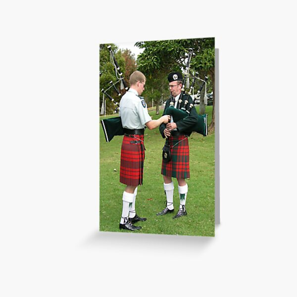 Scottish Bagpipe Band Practice New Zealand Greeting Card