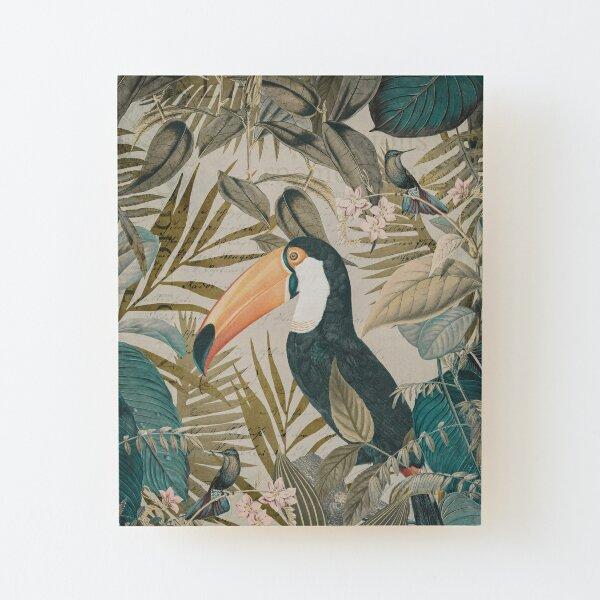 Toucan And Hummingbirds  Wood Mounted Print