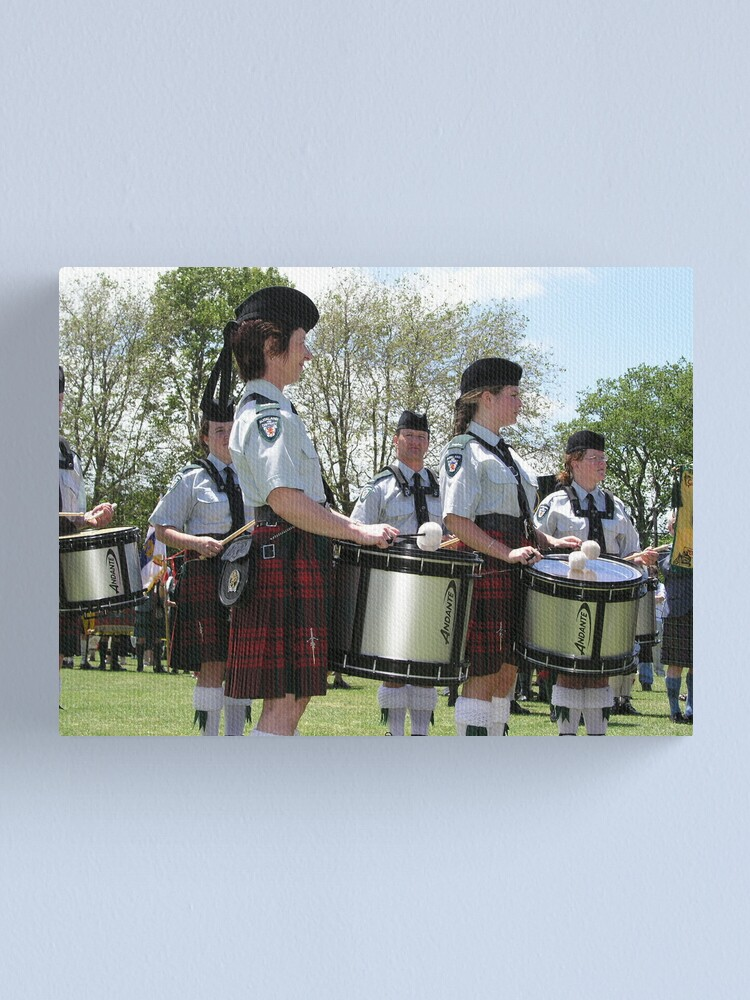 Alternate view of Pipe Band Drummers Canvas Print