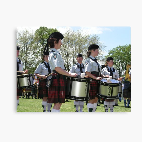 Pipe Band Drummers Canvas Print