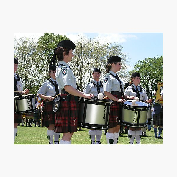 Pipe Band Drummers Photographic Print