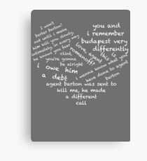 Quotes of the Heart - Clintasha (White) Canvas Print
