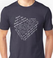 Zitate des Herzens - Destiel (Weiß) Slim Fit T-Shirt