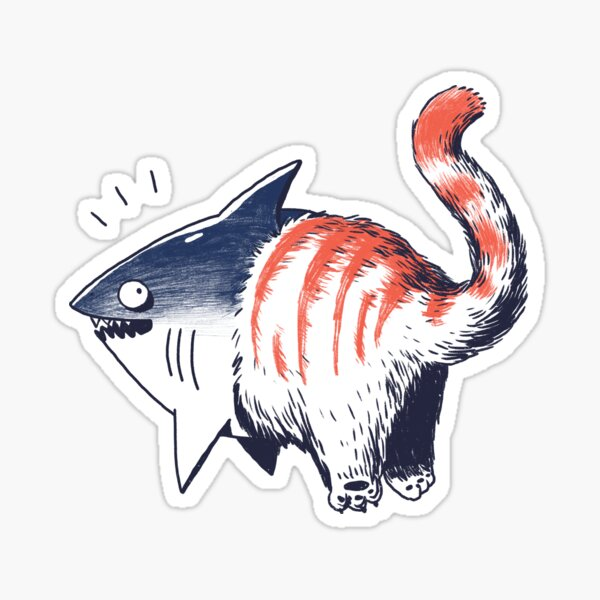 Shark cat Sticker