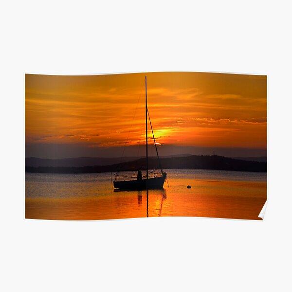 Nautical Sunset. Poster