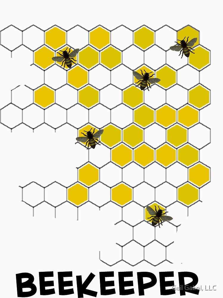 Beekeeper Honeycomb T-Shirt by gailg1957