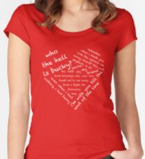 Quotes of the Heart - Stucky (White) Women's Fitted Scoop T-Shirt