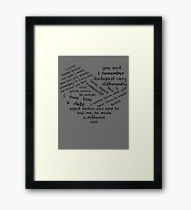 Quotes of the Heart - Clintasha (Black) Framed Print