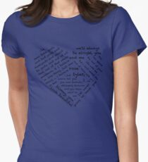 Quotes of the Heart - Doctor/Rose (Black) T-Shirt