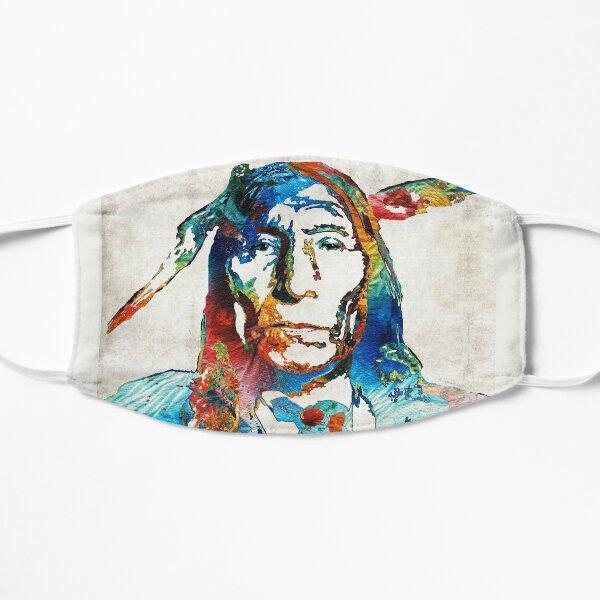 Native American Art - Warrior - By Sharon Cummings Flat Mask